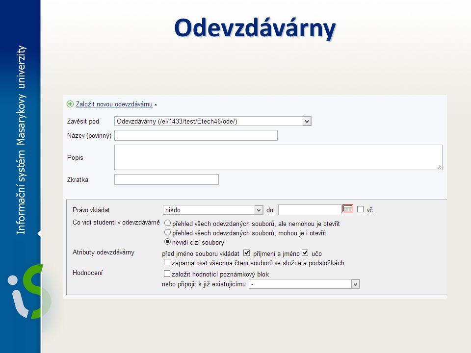 Odevzdávárny Informační systém Masarykovy univerzity