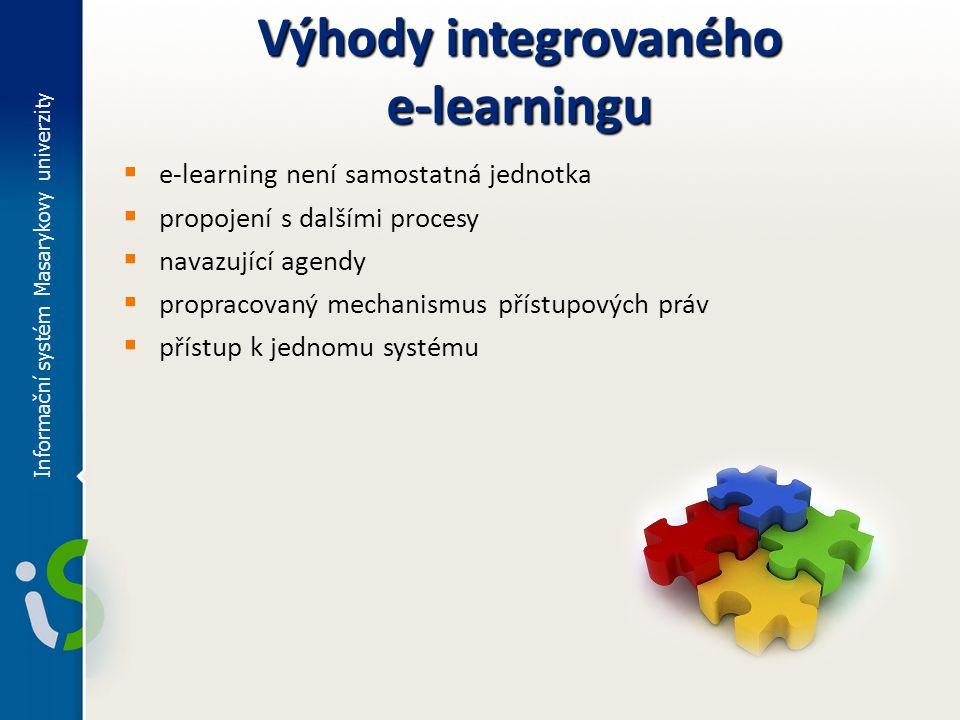 Výhody integrovaného e-learningu