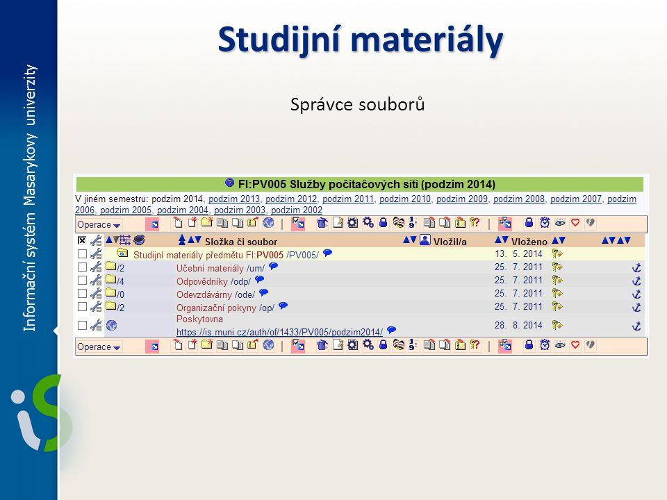 Studijní materiály Správce souborů