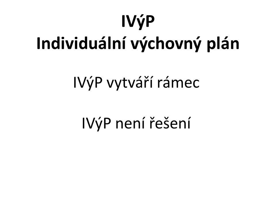IVýP Individuální výchovný plán