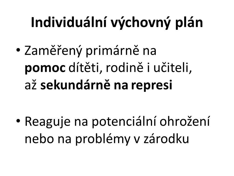 Individuální výchovný plán