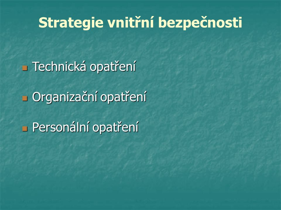 Strategie vnitřní bezpečnosti