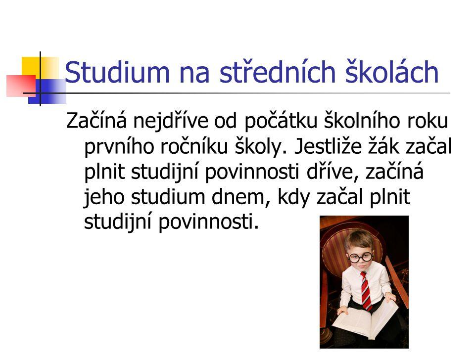 Studium na středních školách