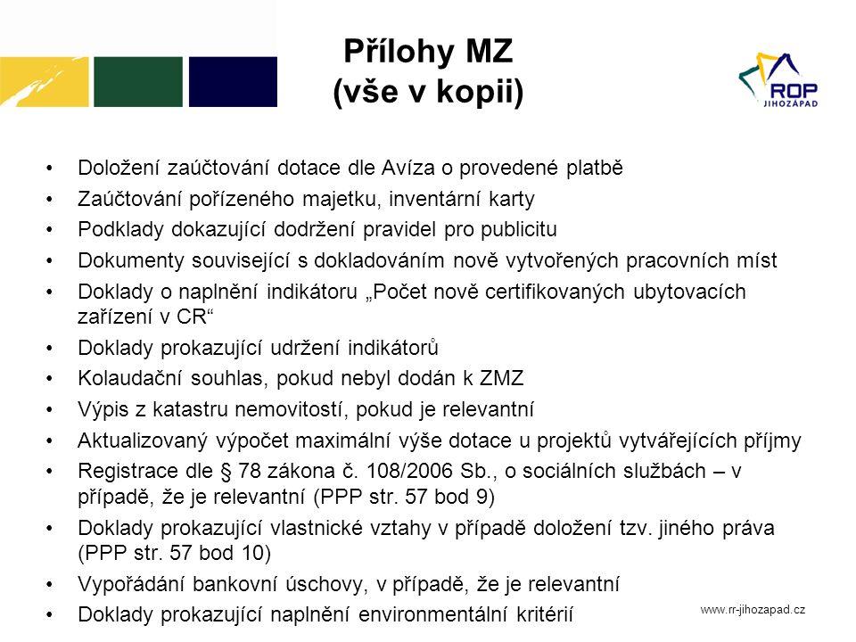 Přílohy MZ (vše v kopii)