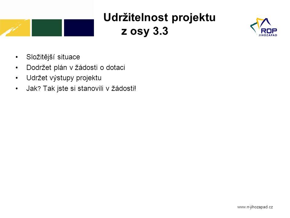 Udržitelnost projektu z osy 3.3
