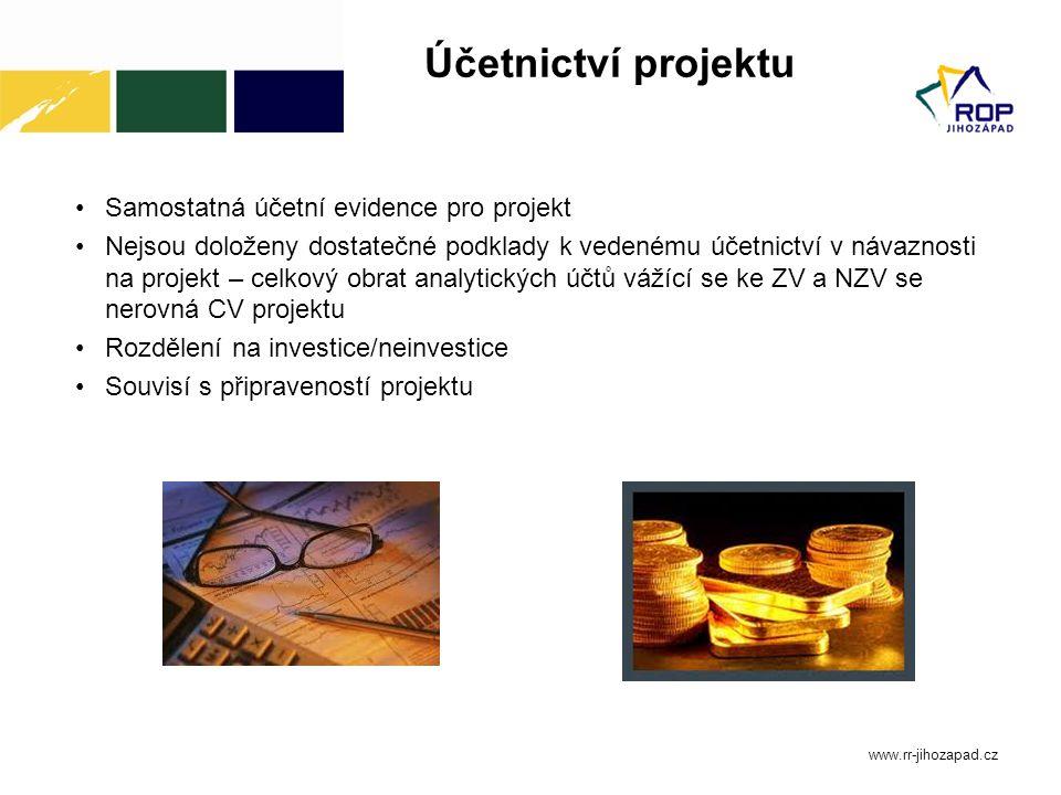 Účetnictví projektu Samostatná účetní evidence pro projekt