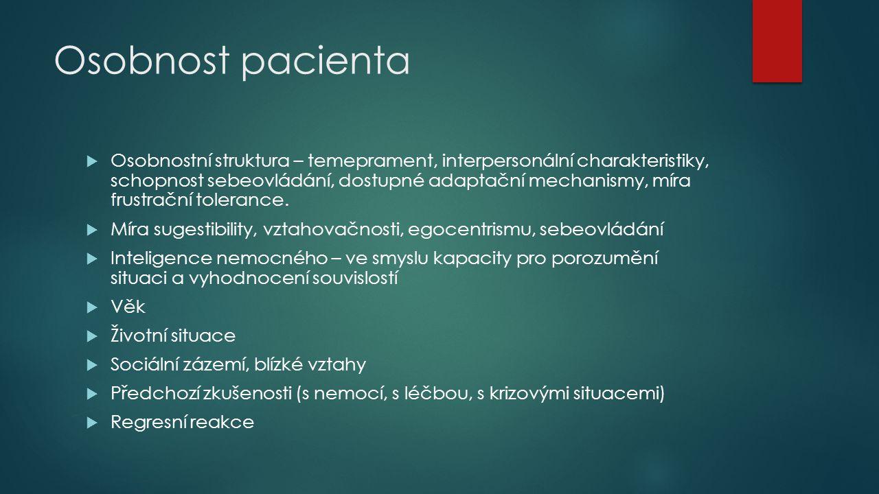 Osobnost pacienta