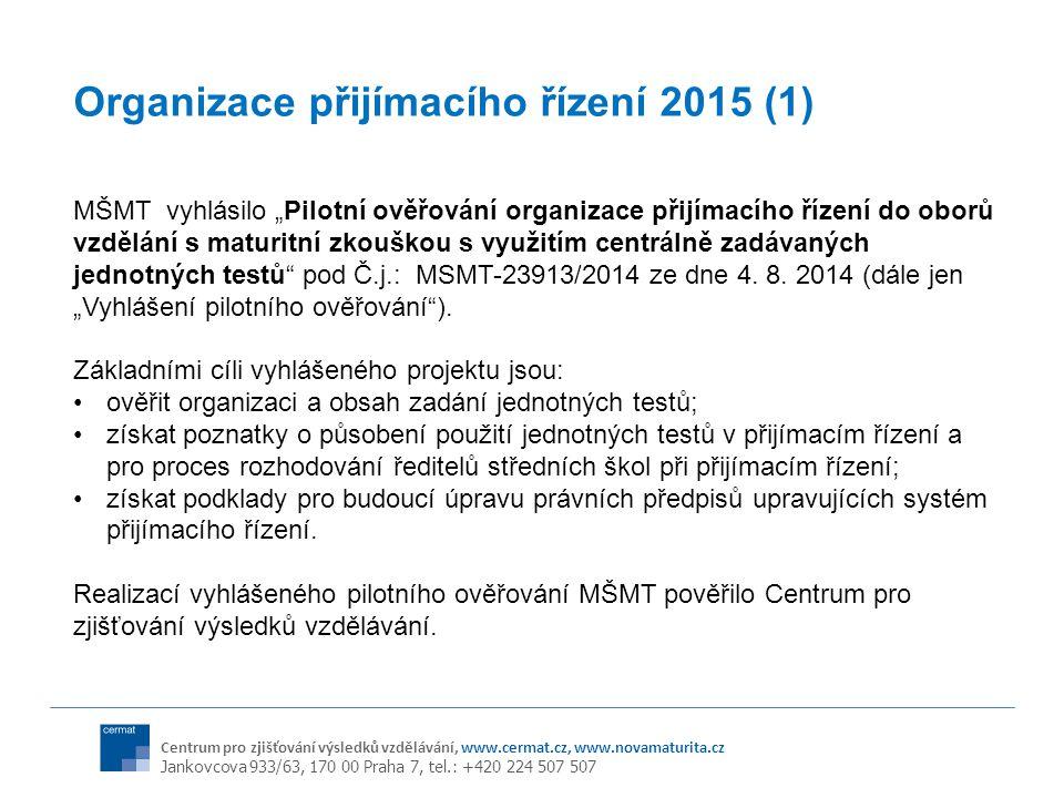 Organizace přijímacího řízení 2015 (1)