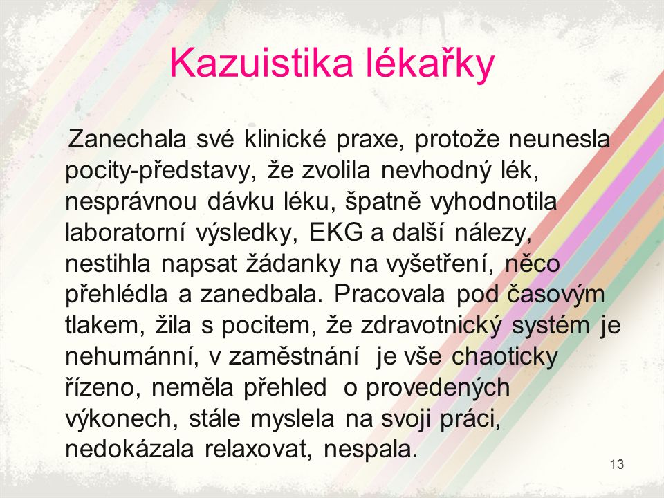 Kazuistika lékařky
