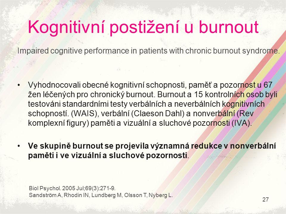 Kognitivní postižení u burnout