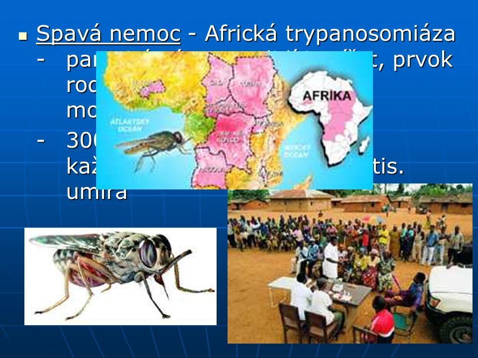 Spavá nemoc - Africká trypanosomiáza -