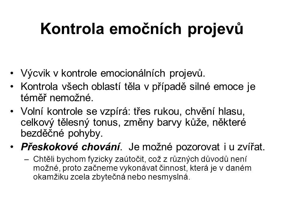 Kontrola emočních projevů