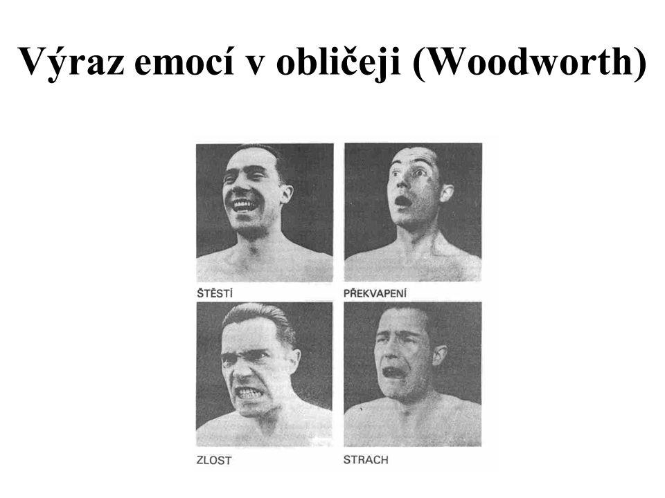 Výraz emocí v obličeji (Woodworth)