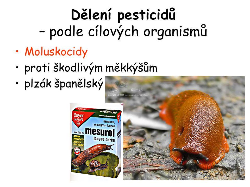 Dělení pesticidů – podle cílových organismů