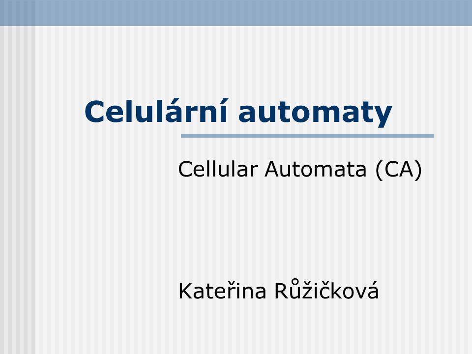 Cellular Automata (CA) Kateřina Růžičková