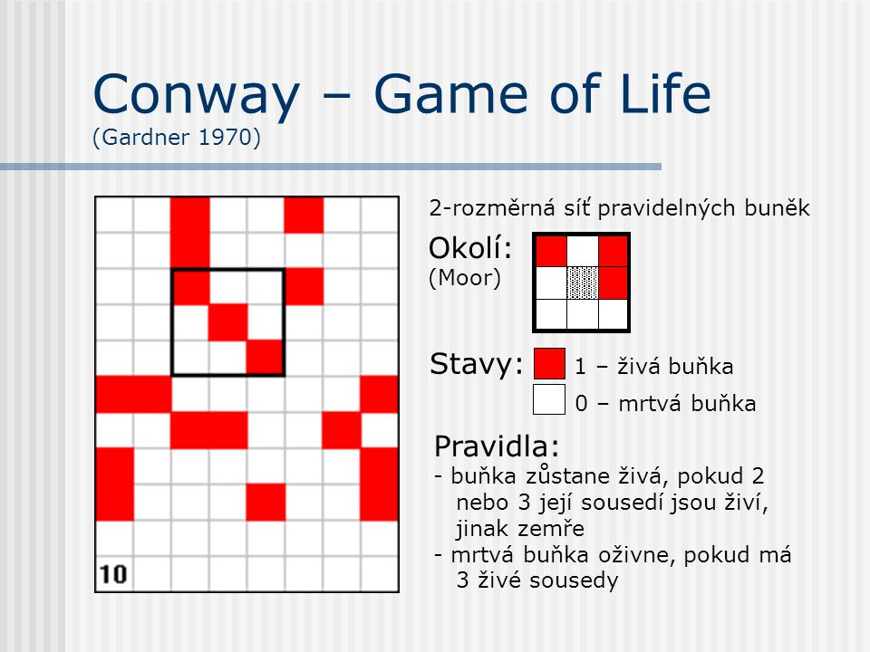 Conway – Game of Life (Gardner 1970)