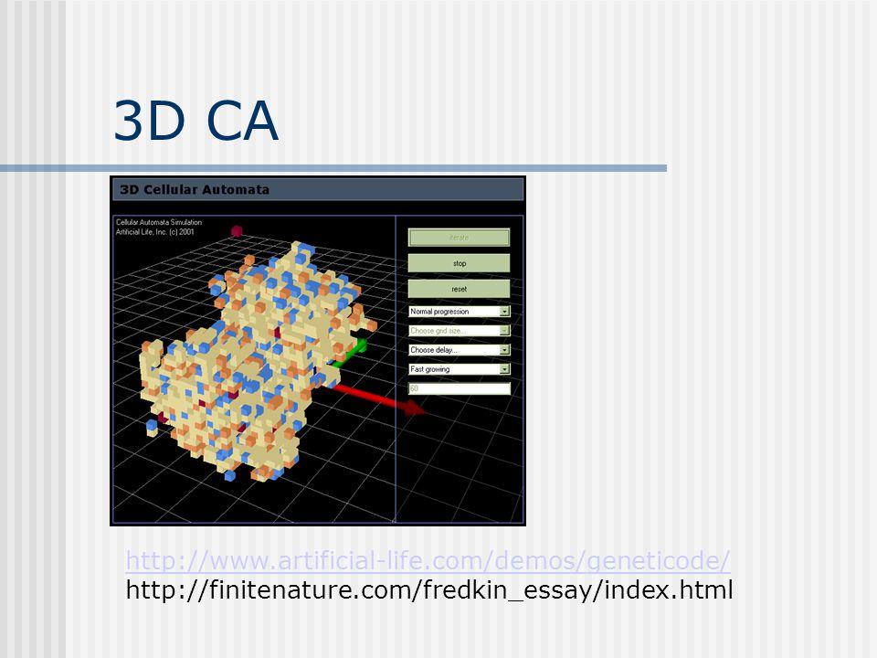 3D CA http://www.artificial-life.com/demos/geneticode/
