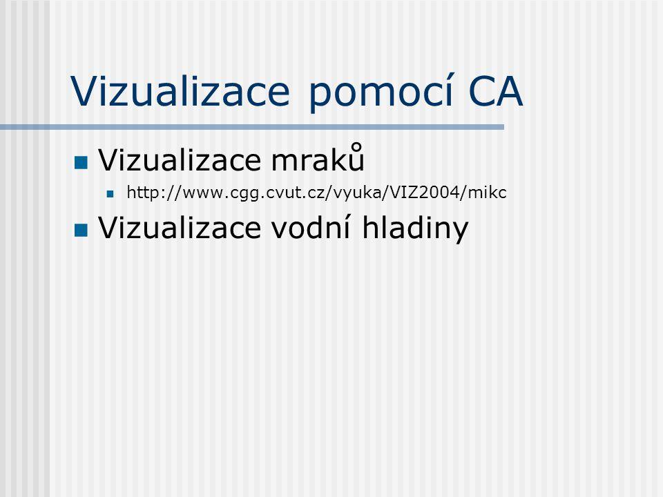 Vizualizace pomocí CA Vizualizace mraků Vizualizace vodní hladiny