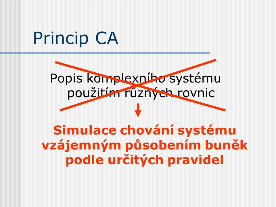 Popis komplexního systému použitím různých rovnic