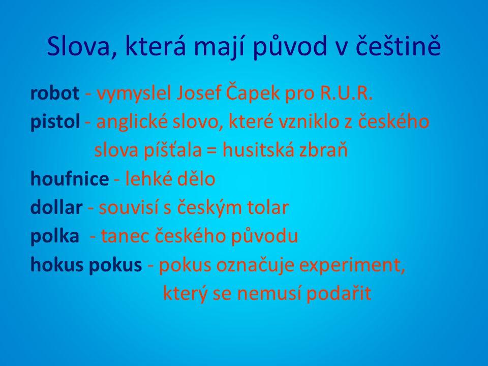 Slova, která mají původ v češtině