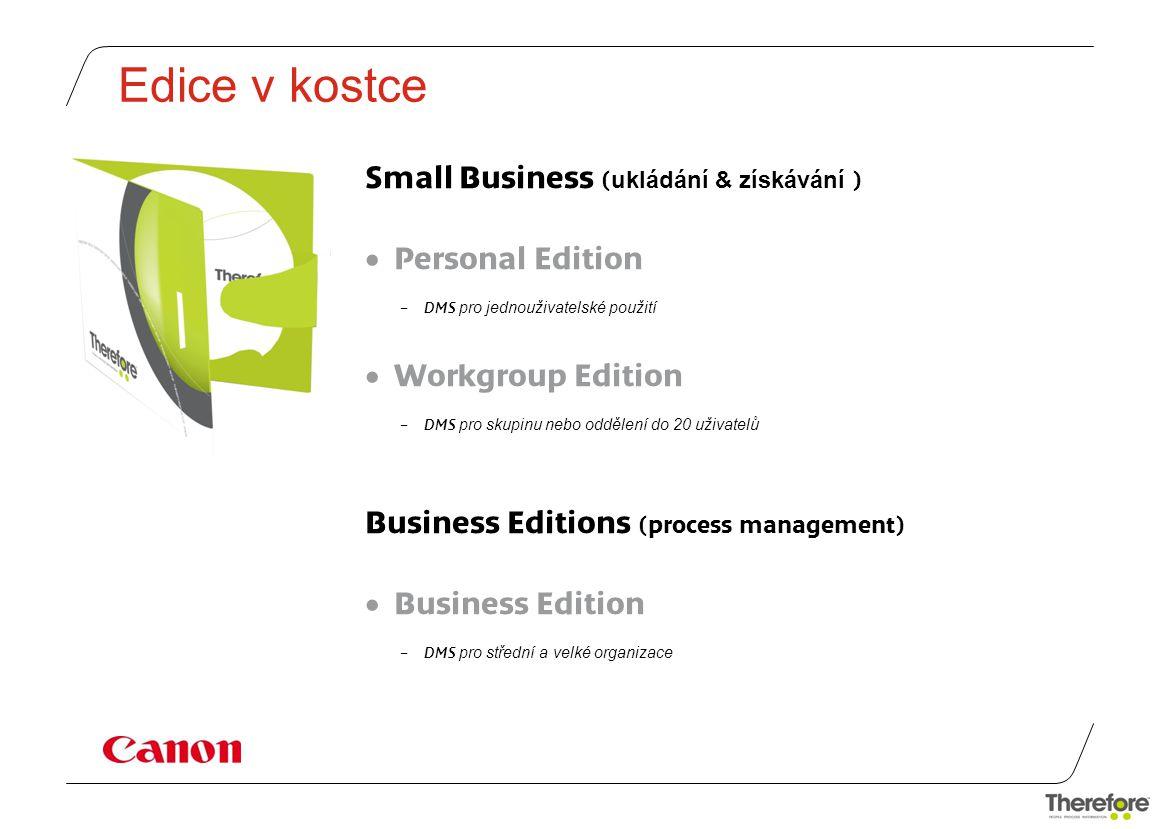 Edice v kostce Small Business (ukládání & získávání ) Personal Edition