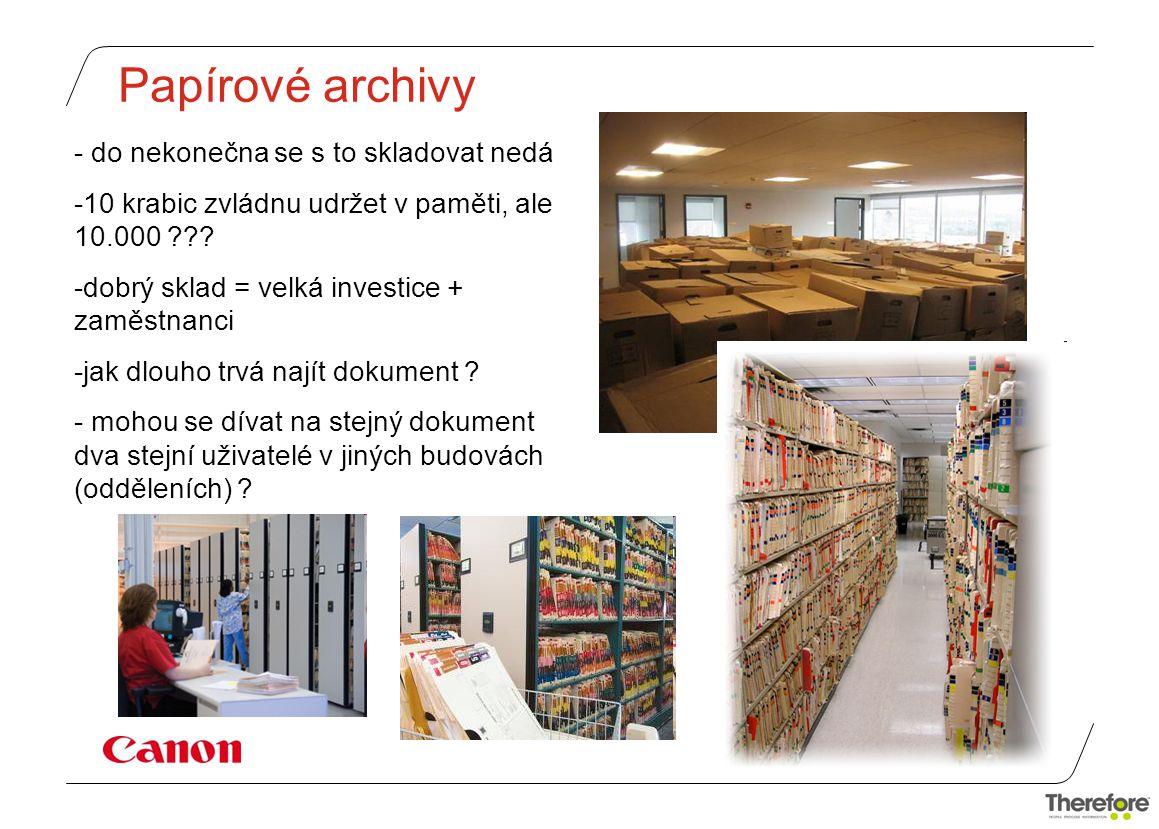 Papírové archivy do nekonečna se s to skladovat nedá