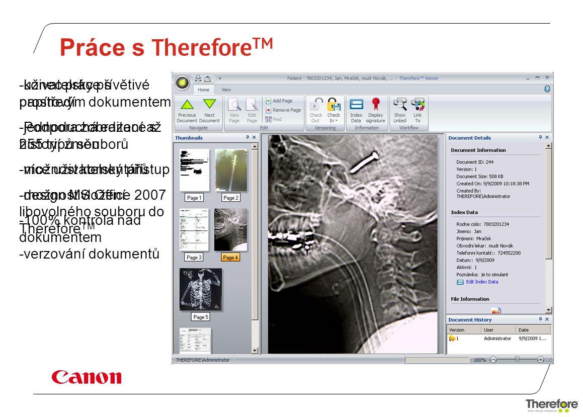 Práce s ThereforeTM uživatelsky přívětivé prostředí