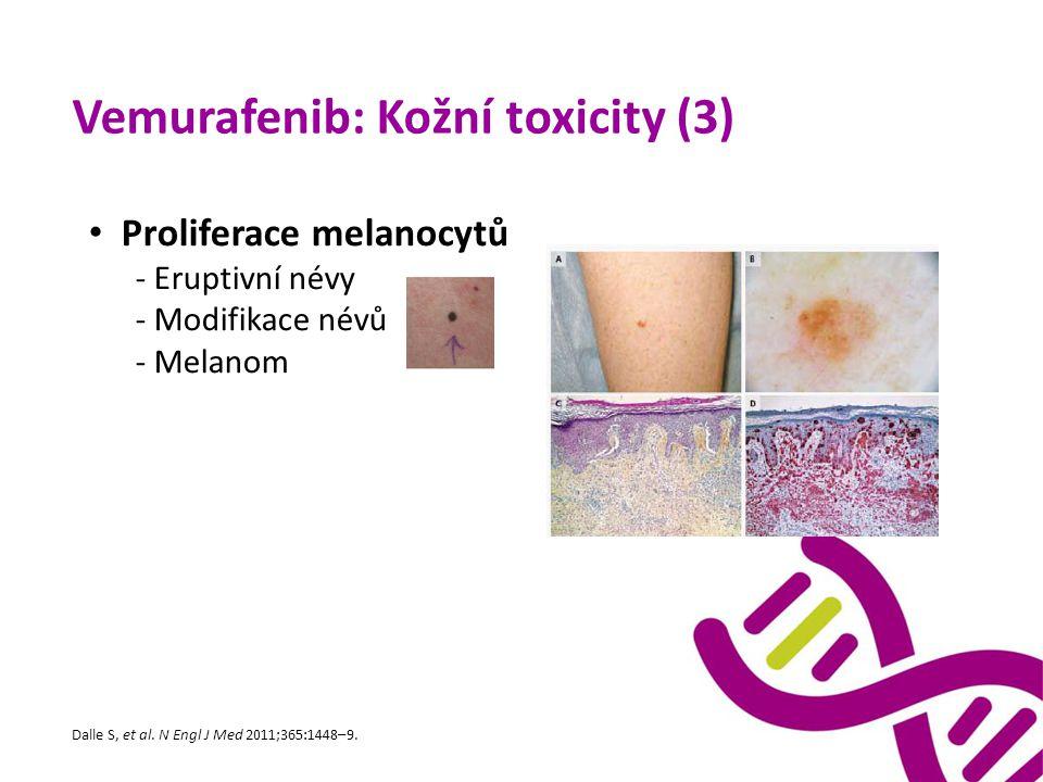 Vemurafenib: Kožní toxicity (3)