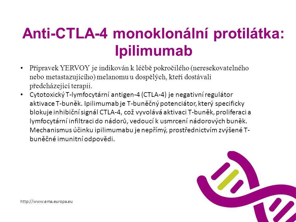 Anti-CTLA-4 monoklonální protilátka: Ipilimumab