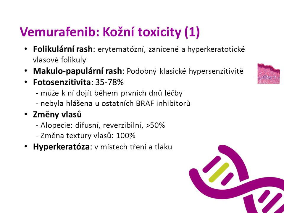 Vemurafenib: Kožní toxicity (1)