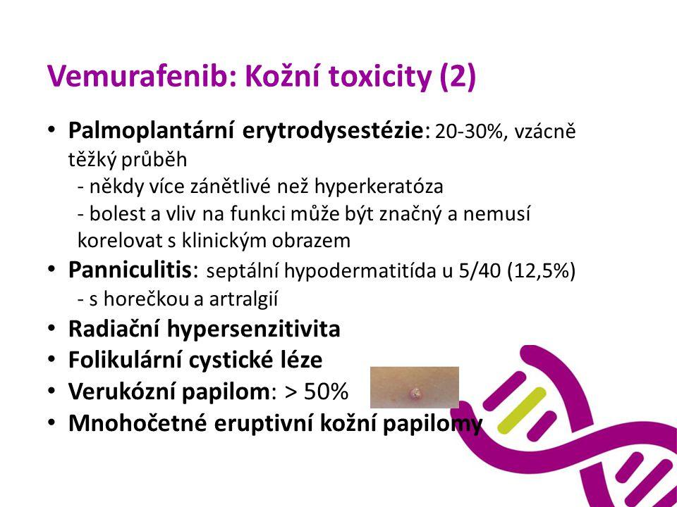 Vemurafenib: Kožní toxicity (2)