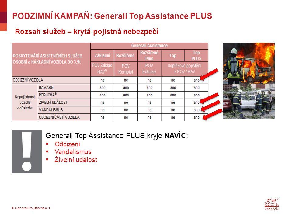 PODZIMNÍ KAMPAŇ: Generali Top Assistance PLUS