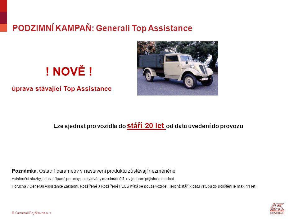 PODZIMNÍ KAMPAŇ: Generali Top Assistance