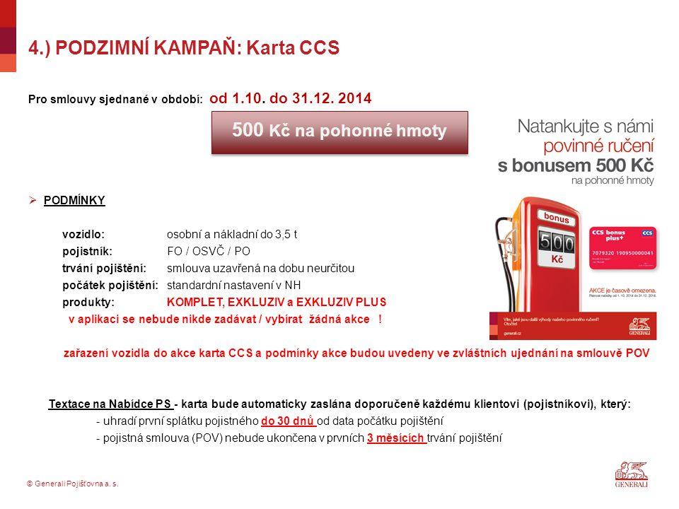 4.) PODZIMNÍ KAMPAŇ: Karta CCS