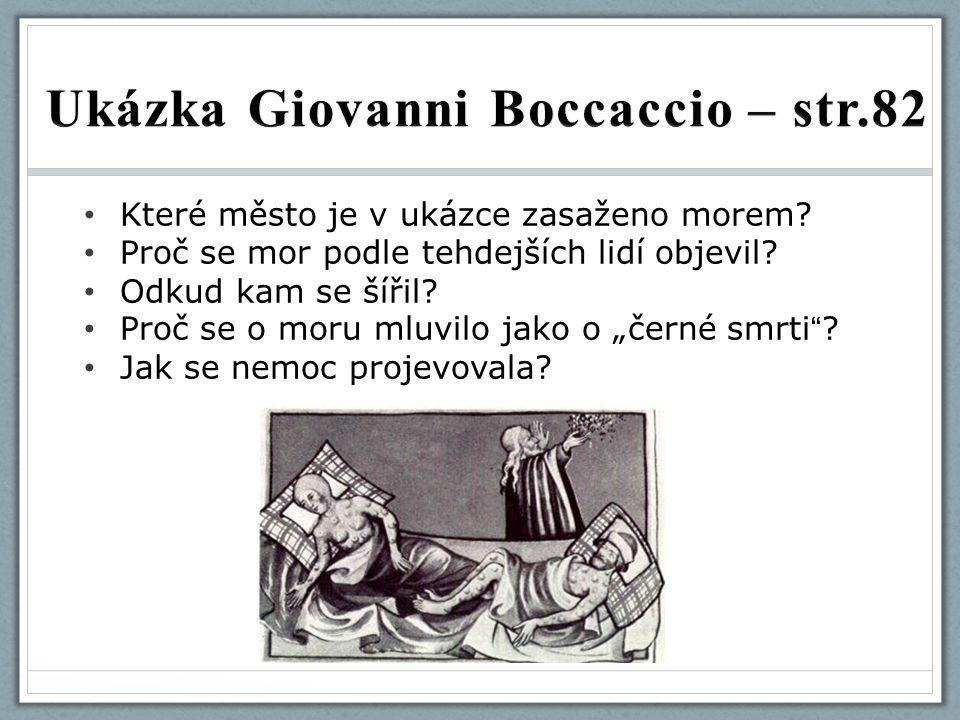 Ukázka Giovanni Boccaccio – str.82