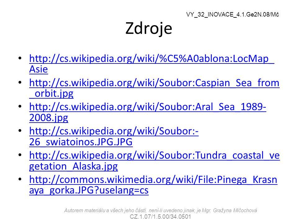 Zdroje http://cs.wikipedia.org/wiki/%C5%A0ablona:LocMap_Asie