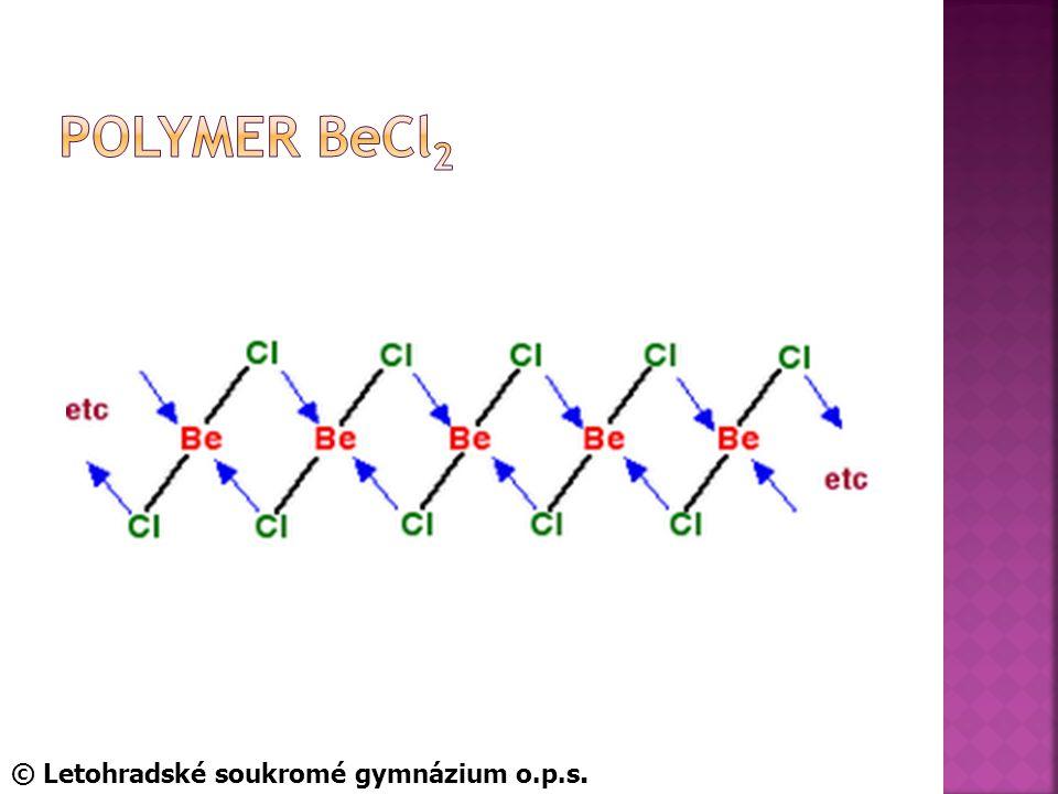 Polymer BeCl2 © Letohradské soukromé gymnázium o.p.s.