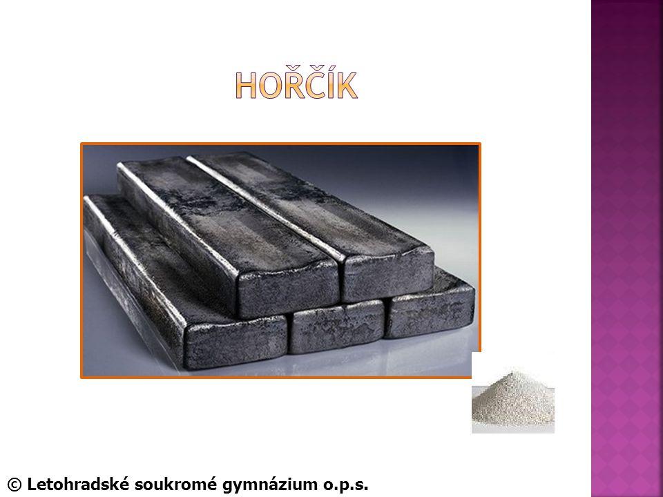 Hořčík © Letohradské soukromé gymnázium o.p.s.