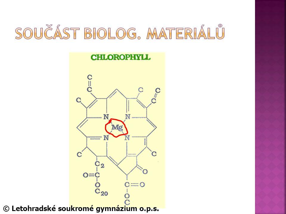 SoUčást biolog. materiálů