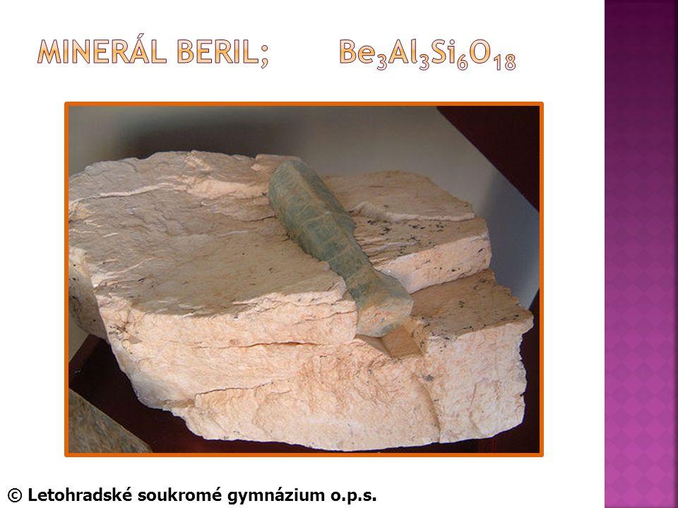 Minerál beril; Be3Al3Si6O18