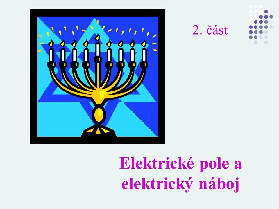 2. část Elektrické pole a elektrický náboj