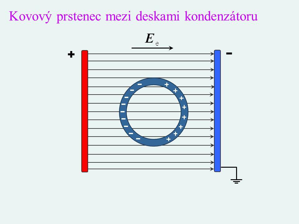 Kovový prstenec mezi deskami kondenzátoru