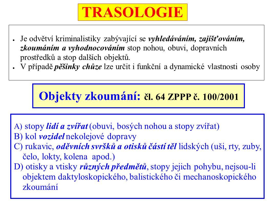 TRASOLOGIE Objekty zkoumání: čl. 64 ZPPP č. 100/2001