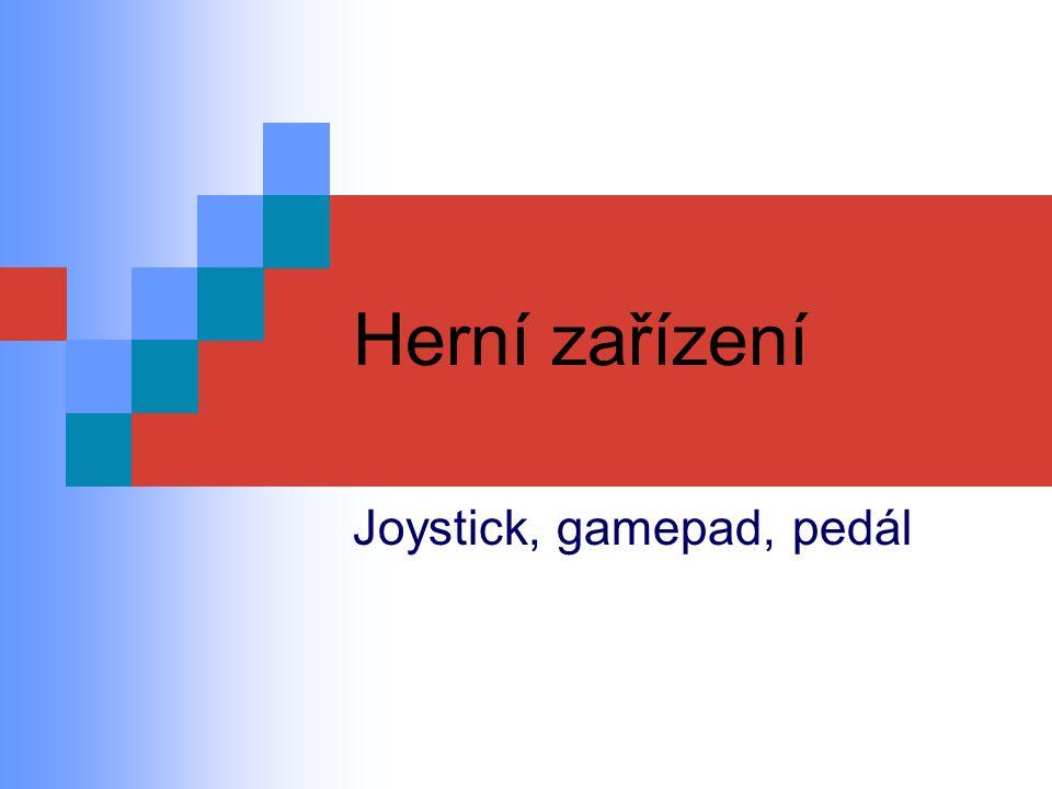 Joystick, gamepad, pedál