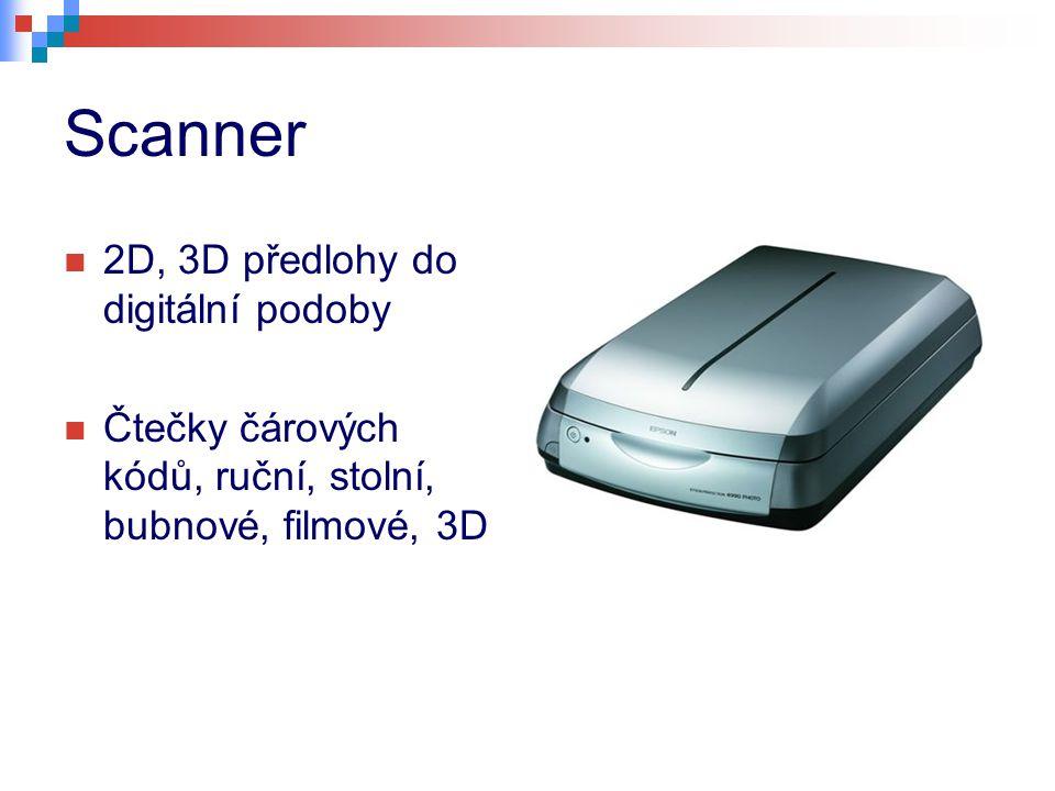 Scanner 2D, 3D předlohy do digitální podoby