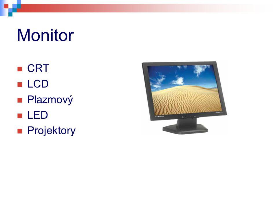 Monitor CRT LCD Plazmový LED Projektory