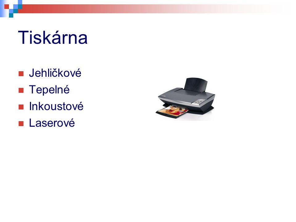 Tiskárna Jehličkové Tepelné Inkoustové Laserové