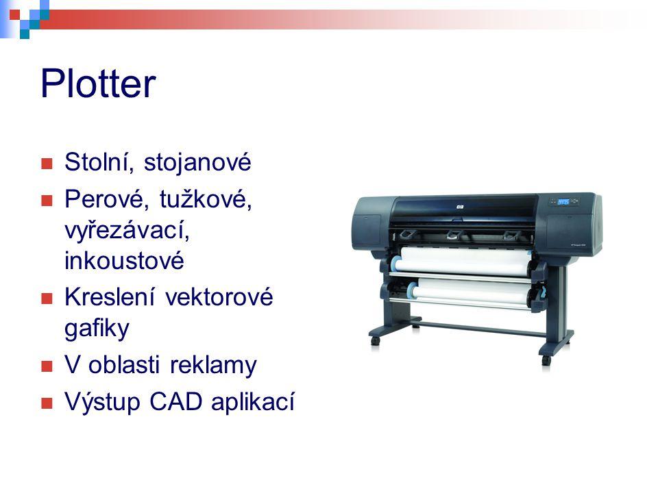 Plotter Stolní, stojanové Perové, tužkové, vyřezávací, inkoustové