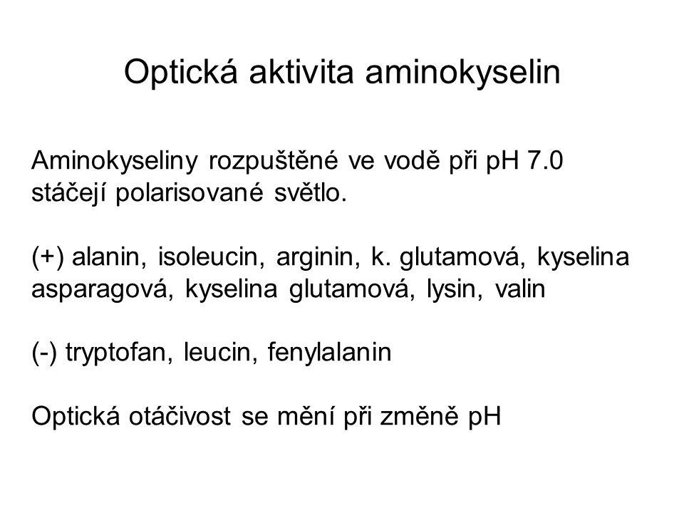Optická aktivita aminokyselin