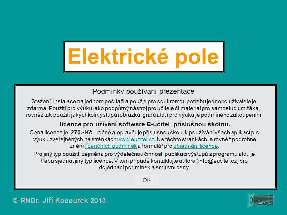 Elektrické pole Podmínky používání prezentace